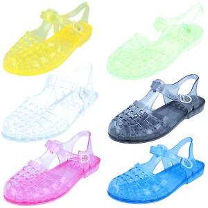SALE Ladies Spot on 90's retro jelly buckle sandals F0714