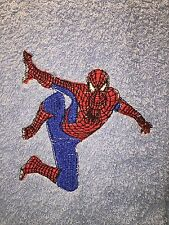 Embroidered Light Blue Bathroom Hand Towel -MARVEL COMIC HERO SPIDERMAN HS0108
