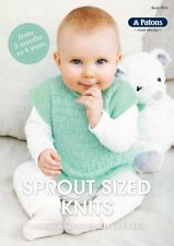 Patons Pattern Book #8026 Sprout Sized Knits 5 Designs in Big Baby 4 & 8 Ply