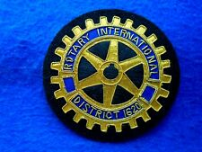 ROTARY CLUB INTERNATIONAL DISTRICT 1620 BULLION WIRE THREAD BLAZER BADGE