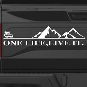 ONE LIFE LIVE IT Sticker DECAL- WINDOW BUMPER DEFENDER 4X4 LAND ROVER JEEP VINYL