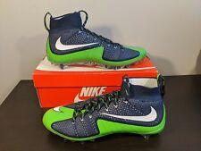Nike Vapor Untouchable Td Football Cleats Sz 14 Navy Green 707455-420 Seahawks