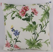 """Vintage Sanderson Floral Fabric Cushion Cover Shabby Chic Red Yellow Blue 20"""""""