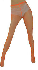 Elegant Moments Neon Orange Fishnet Pantyhose