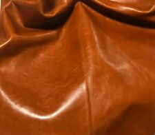 "BURNT ORANGE Cow Hide Leather 8""x8"" Piece"