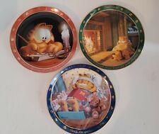 "Set of Three Vintage Garfield ""Dear Diary Plate Series� - Danbury Mint - 1990"