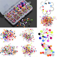 50/90x Mixed Bulk Lots Body Piercing Eyebrow Jewelry Set Belly Tongue Bar Ring F