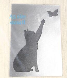 Pet Stencil Cat Stencil Kitten Shabby Chic Wall   Furniture Decor Craft Animal