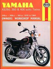 1975-1984 Yamaha XS250 XS360 XS400 XS 250 360 400 HAYNES REPAIR MANUAL 378