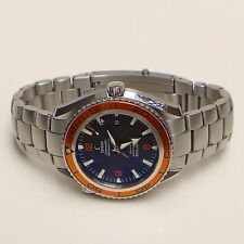 **Omega Planet Ocean Seamaster Co-Axial 600m Chronometer 22005000 Orange Watch**