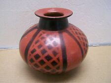 Chulucanas Black Pottery Reddish/Black Pot  - Peru