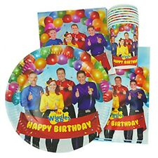 The Wiggles Party Supplies 40pc Party Pack-Plates/Cups/Napkins/Lootbags (Photo)