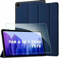 """For Samsung Galaxy Tab A 10.1"""" SMT510 T515 Smart Cover Case With Tempered Glass"""