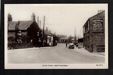 Boothstown near Salford - Leigh Road - real photographic postcard