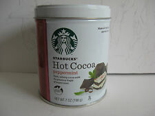 HOLIDAY PROMOTION 2015 STARBUCKS HOT COCOA PEPPERMINT EMPTY 2012 TIN CAN