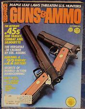 Magazine GUNS & AMMO Oct 1978 !SAVAGE Model 110-S RIFLE! *Savage .45 ACP Pistol*