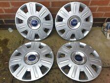 "Set of Genuine Ford 16"" Wheel Trims Hub Caps x4 Mondeo Focus Cmax"