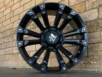 HUSSLA AMBUSH 20X9 INCH WHEELS AND TYRES & 265/50/20 MONSTA A/T TYRES SET OF 4