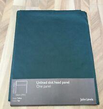 NEW JOHN LEWIS UNLINED SLOT HEAD PANEL TAFFETA TEAL 150CM X 230CM 59 X 90 INCHES