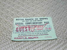 1 Vintage Royal Ranch West wild  Shows