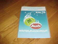 1989 Audi ABN Bank Winterjeugdcircuit Tennis Program