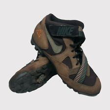 Nike Pooh Bah Vintage Mountain Bike Shoes Brown Green Orange Rare US 8.5 EU 42