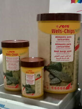 Sera Wels Chips Nature Food for Fish of Background Ancistrus Container Original