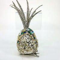 "Gold Silver Sparkle 6"" Pineapple Clip on Christmas Tree Ornament Decor Tiki NEW"