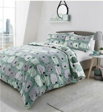 Dotty Sheep Duvet Cover Reversible Bedding Set Duck Egg Single Double King