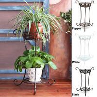 2 TIER Metal Plant Stand Flower Pot Shelves Outdoor Indoor Wedding Wrought Iron
