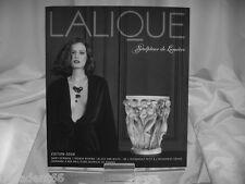 LALIQUE SCULPTEUR DE LUMIERE CATALOGUE 2008 EDITION