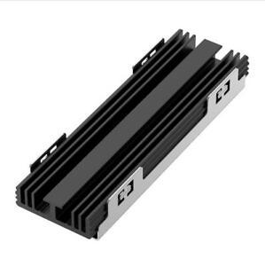 M.2 NGFF PCI-E NVME SSD BLACK ALUMINIUM HEATSINK RADIATION COOLING FIN COOLER