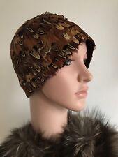 Vintage 1920 S cloche chapeau à plumes RARE ART DECO 20 S Clapet patraque oeillères