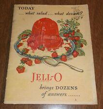Vintage 1928 Cook Book Booklet - Jello Desserts Salads