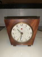 Vintage Westclox Sphinx S7-H Alarm Clock 40's Red Eye Art Deco