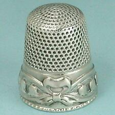 Antique Sterling Silver Lily of the Valley Thimble by Stern Bros. & Co. * C1900s