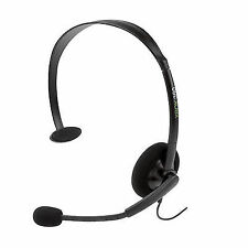 2 Official Microsoft Xbox 360 Live Wired Headset & Microphone Headphone in Black