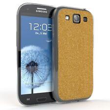 Schutz Hülle für Samsung Galaxy S3 Glitzer Cover Handy Case Gold