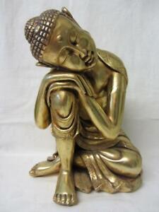 Large Asian Tibetan Gilt Buddha Figurine,