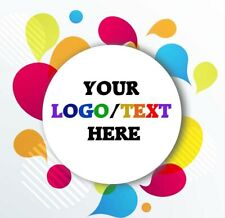 Logo Stickers Round Personalised Printed Sticky Postage Business Thankyou Seals