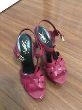 YSL Saint Laurent T-strap tribute Sandals Size 37