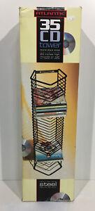 Atlantic 35 CD Wall Mount Rack Holder Storage Disk Case Display Organizer Steel