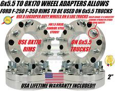 "6x5.5 To 8x170 Wheel Adapters 12x1.25 For Titan Frontier Pathfinder Armada 2"""