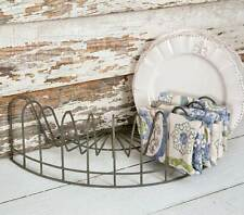 Vintage Farmhouse Style Half Round Plate Display Rack 370016T