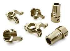 C26557GUN Integy Billet Steering, Caster Block & R Lockout Set for Axial SCX-10