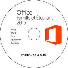 Office Famille et Etudiant 2016 32/64 bit installation sans licence ✅