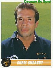 249 CHRIS SHEASBY ENGLAND WASPS STICKER PREMIER DIVISION RUGBY 1997-1998 PANINI