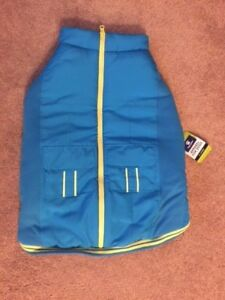 Top Paw Blue With Yellow Zippered Vest Jacket Size XL NWT