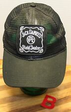 JACK DANIEL'S FIELD TESTER BLACK MESH HAT, ADJUSTABLE SNAP BACK!  VGC!!