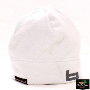 """NEW BANDED GEAR UFS FLEECE BEANIE SKULL CAP HAT STOCKING """"b"""" LOGO WHITE"""